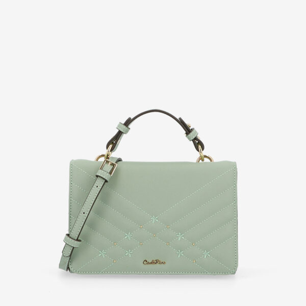 carlorino bag 0305058K 002 26 1 600x600 - Medallion Top Handle Bag