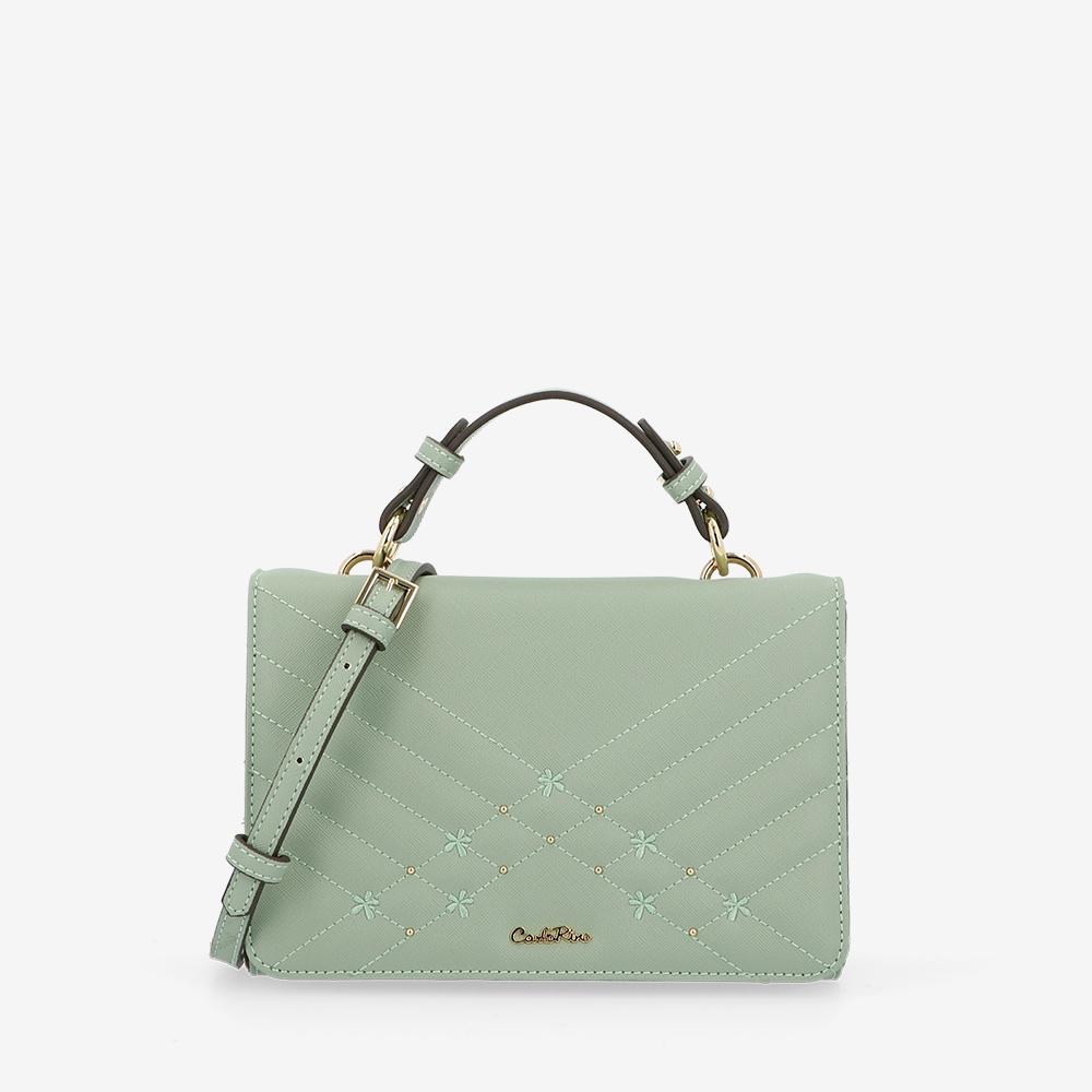 carlorino bag 0305058K 002 26 1 - Medallion Top Handle Bag
