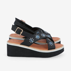 "carlorino shoe 33300 J002 00 2 - 2.5"" What A Relief Platform Sandals"