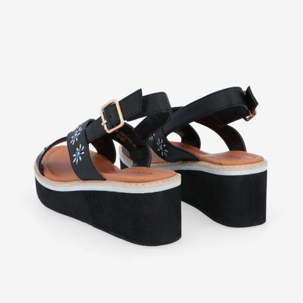 "carlorino shoe 33300 J002 00 4 - 2.5"" What A Relief Platform Sandals"