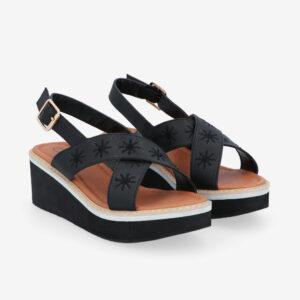 "carlorino shoe 33300 J002 08 1 - 2.5"" What A Relief Platform Sandals"