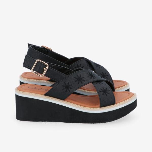 "carlorino shoe 33300 J002 08 2 - 2.5"" What A Relief Platform Sandals"