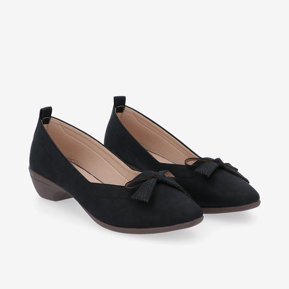 carlorino shoe 33310 J011 08 1 - Artisinal Bow Low Heel Ballerina Pumps
