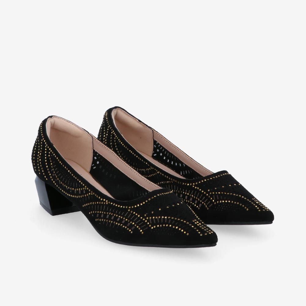 "carlorino shoe 33310 K005 08 1 - Splendour Grandeur 1 1/2"" Pointed Toe Pump"