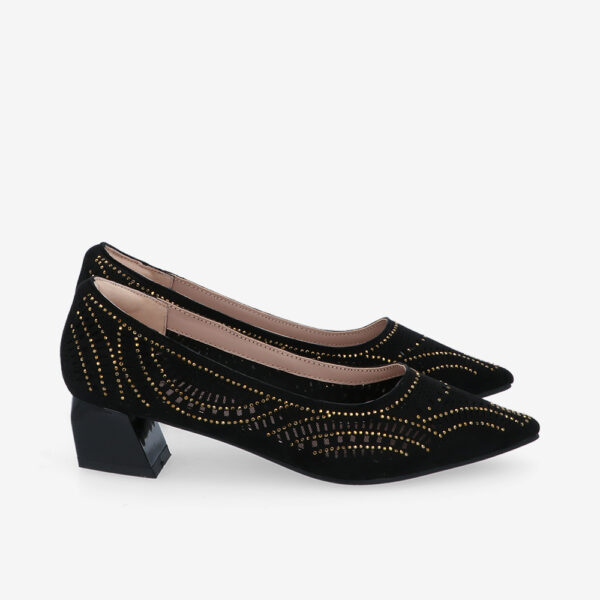 "carlorino shoe 33310 K005 08 2 - Splendour Grandeur 1 1/2"" Pointed Toe Pump"