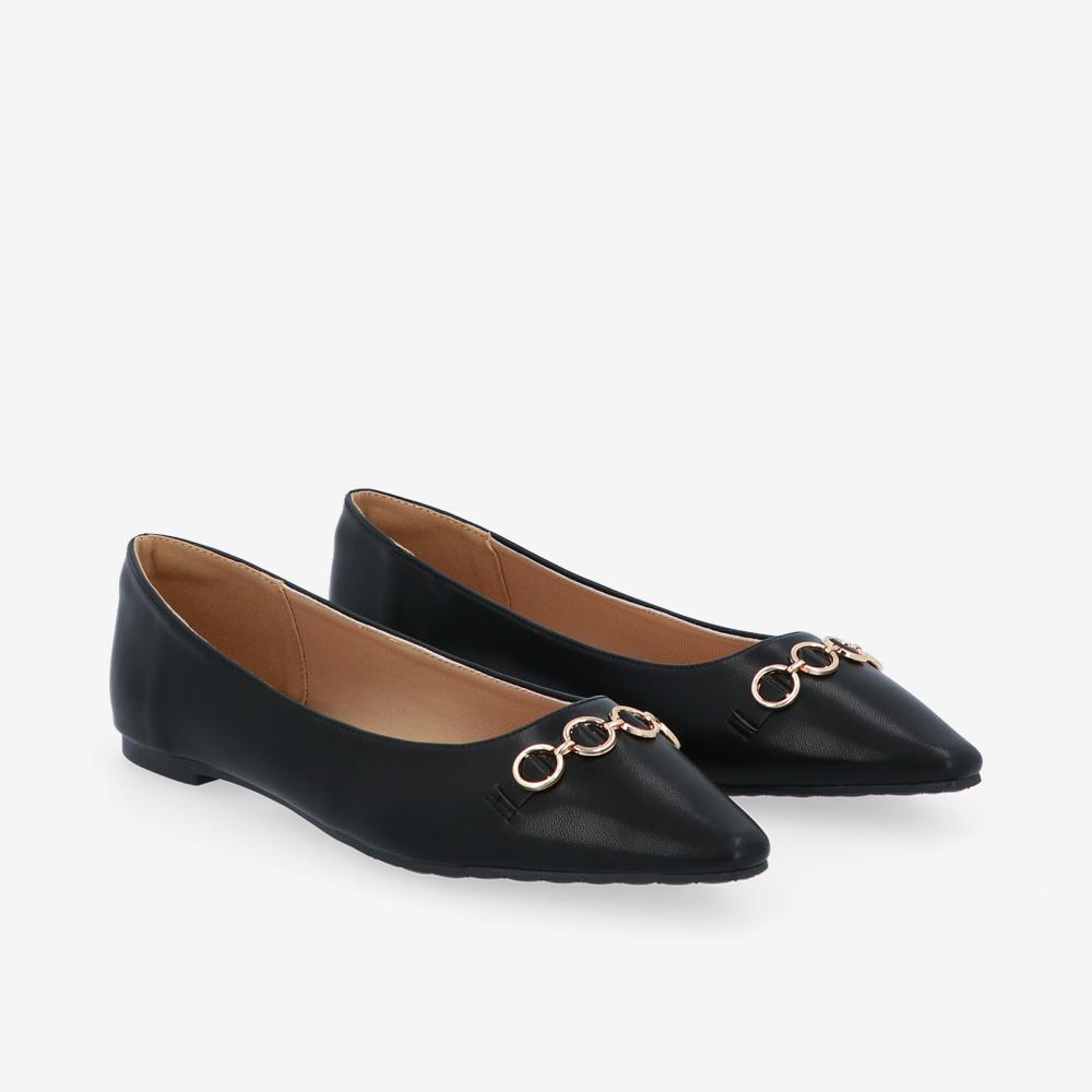 carlorino shoe 33320 J012 08 1 - City Sparkle Pointed Toe Ballerina Flats