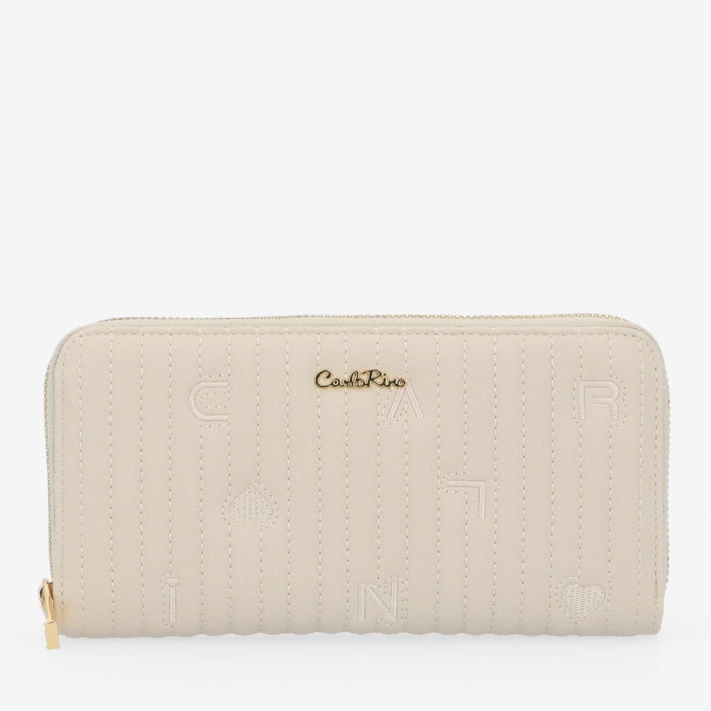 carlorino wallet 0305060K 503 21 1 - Milky Way Zip-Around Long Wallet
