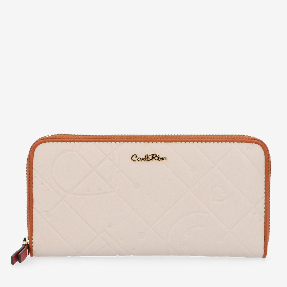 carlorino wallet 0305105K 502 21 1 - Perfect Blush Zip-Around Long Wallet