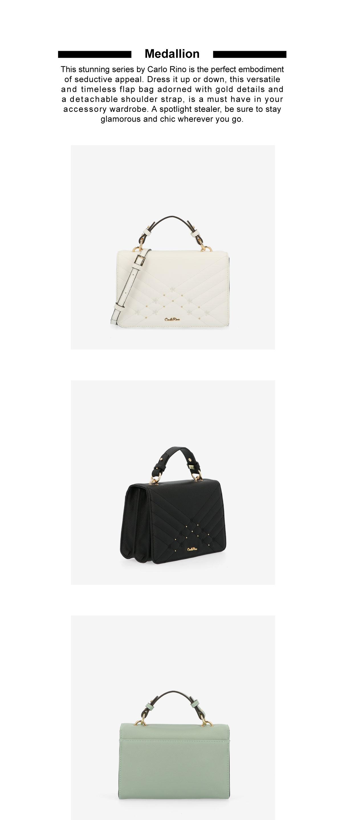 0305058K 002 2 1 - Medallion Top Handle Bag