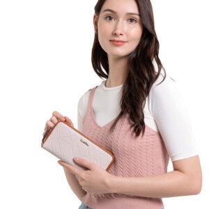 Perfect Blush Zip-Around Long Wallet