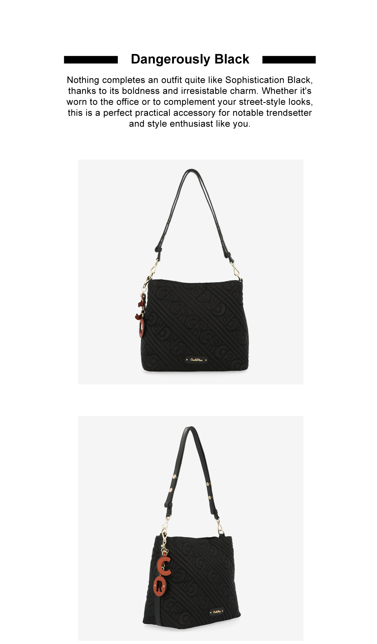 0305135J 003 2 - Dangerously Black Shoulder Bag