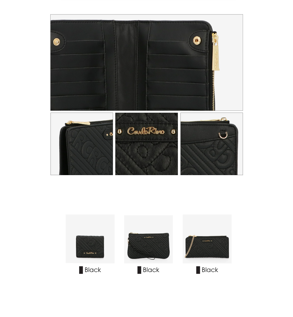 0305135J 703 3 1 - Dangerously Black Crossbody Wallet