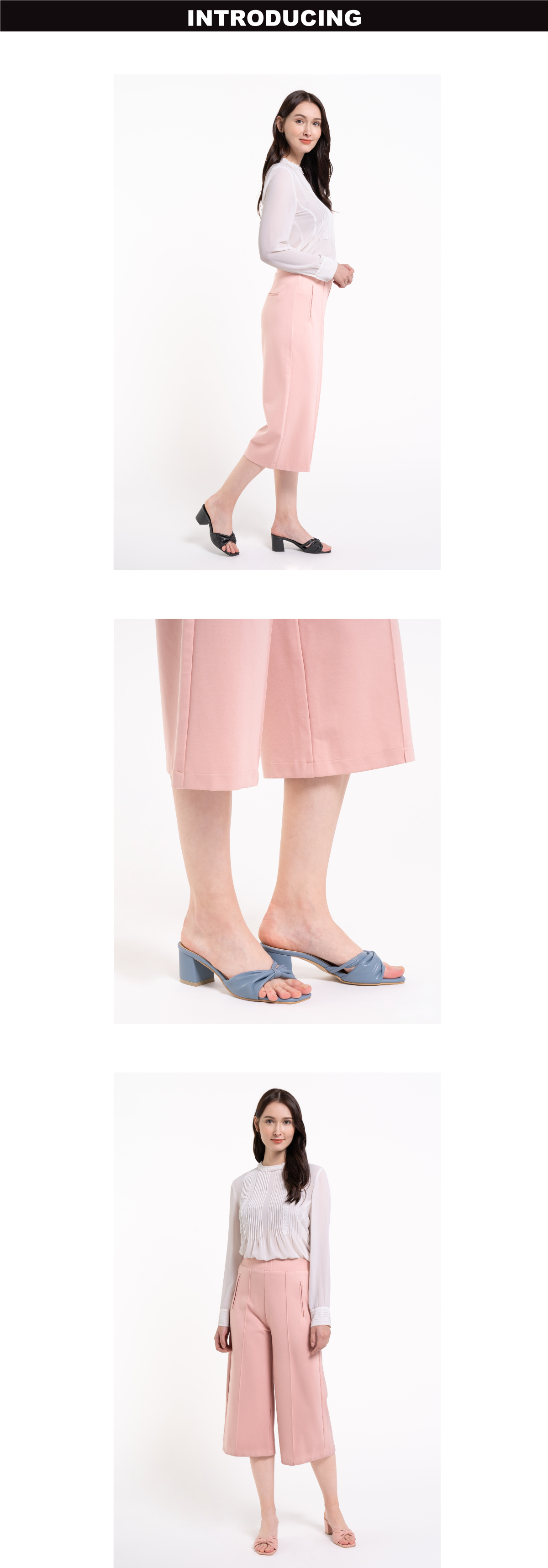"33340 J008 1 - 2 1/2"" Cotton Candy Bow Slip On"