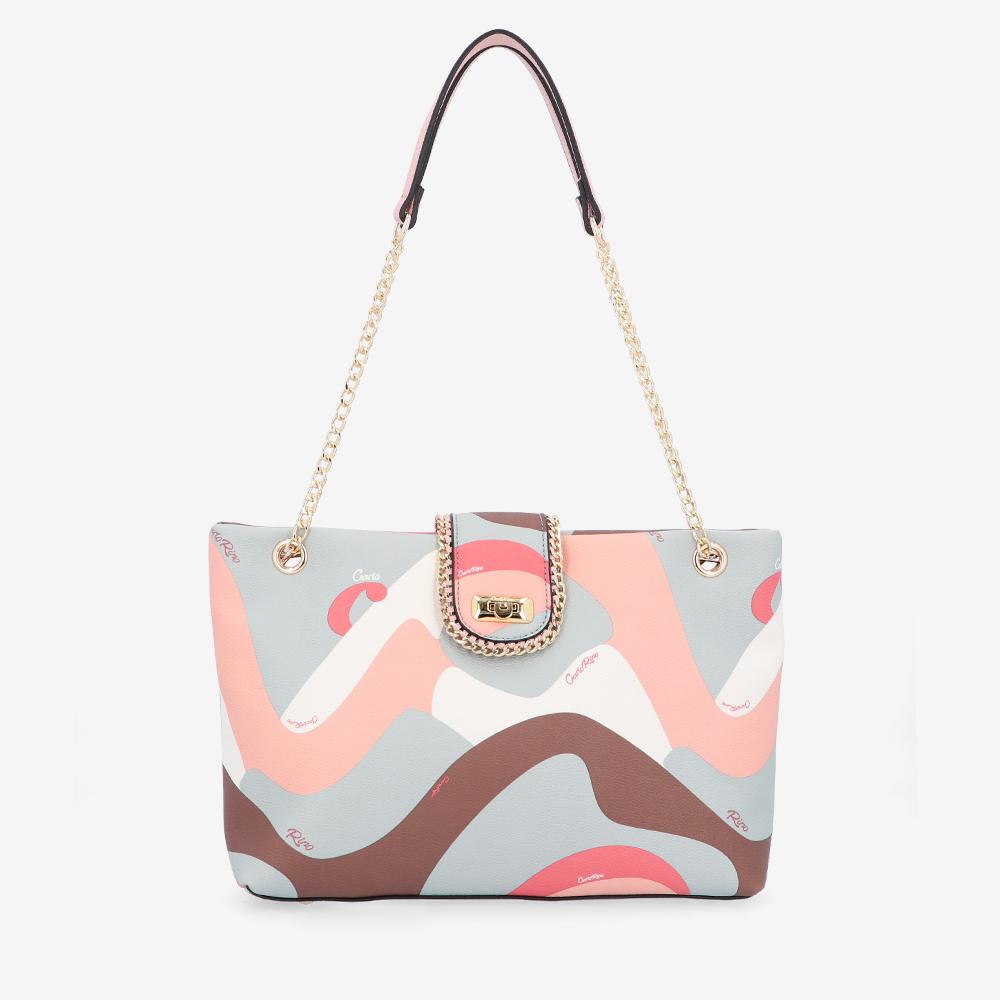 carlorino bag 0304947H 001 24 1 - Good Times With Print Tote Bag
