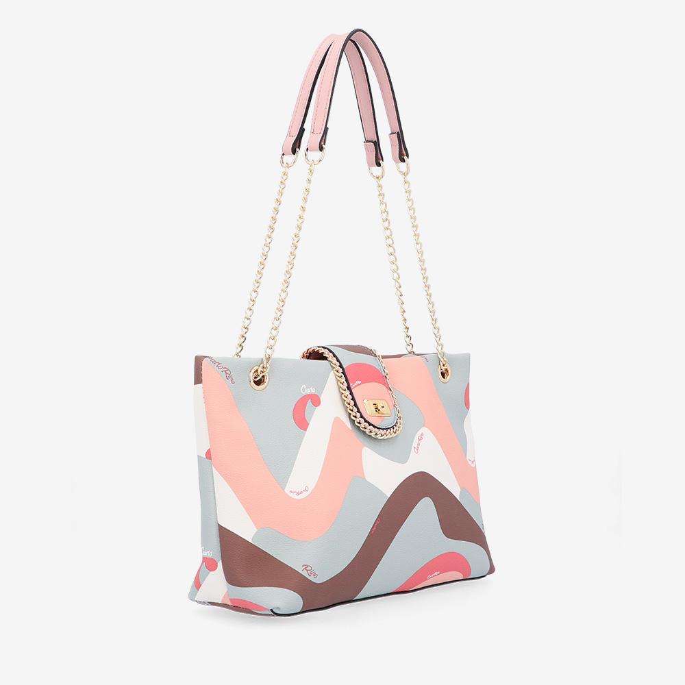 carlorino bag 0304947H 001 24 3 - Good Times With Print Tote Bag