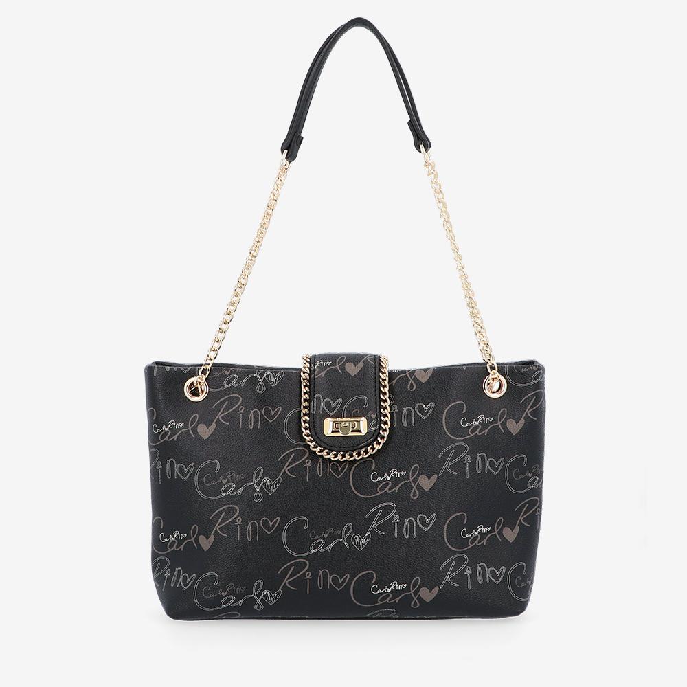 carlorino bag 0304947H 003 08 1 - Good Times With Print Tote Bag