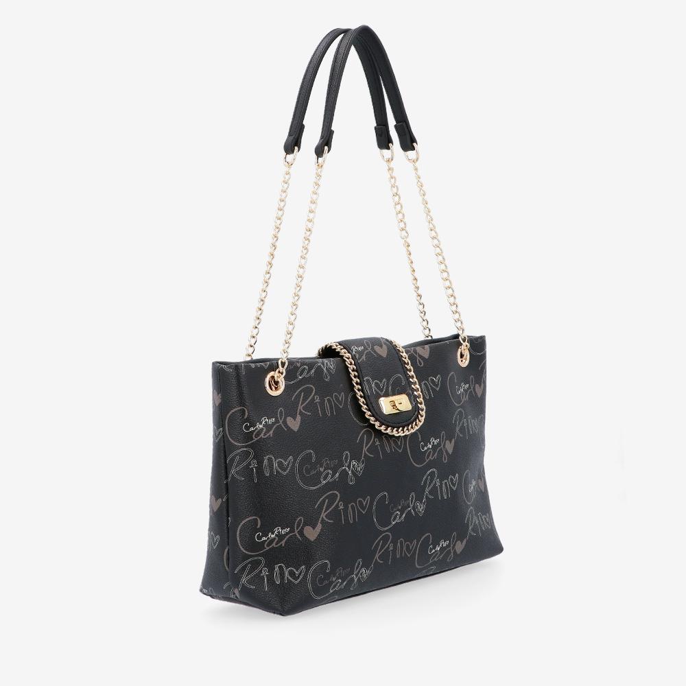 carlorino bag 0304947H 003 08 3 - Good Times With Print Tote Bag