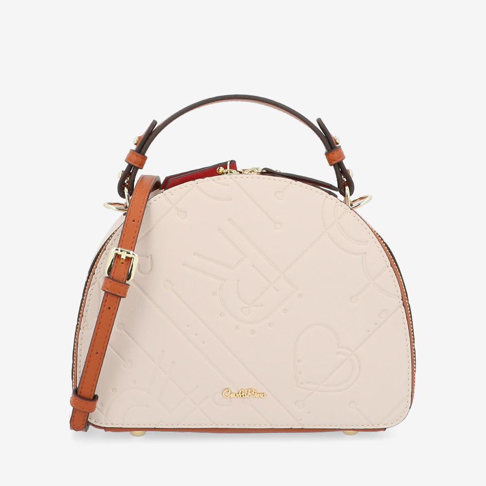 carlorino bag 0305105K 001 21 1 - Perfect Blush Semi-Circle Crossbody