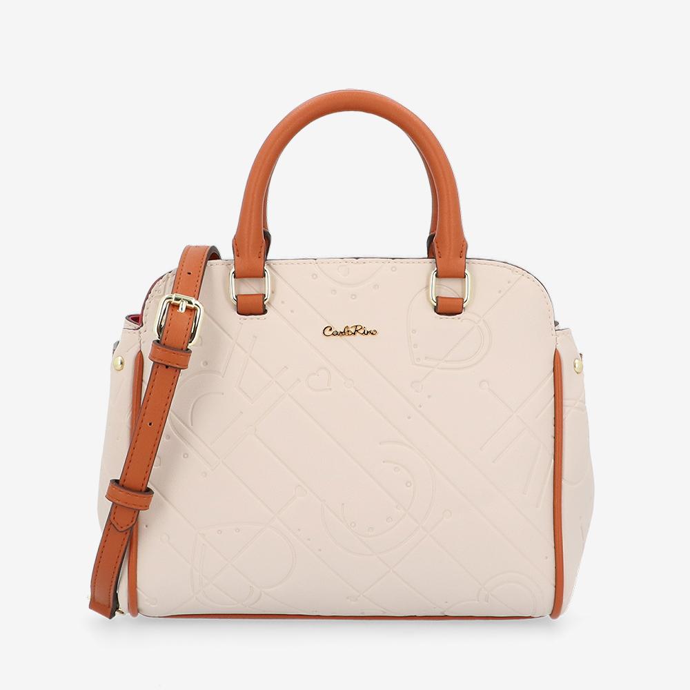 carlorino bag 0305105K 002 21 1 - Perfect Blush Semi-Circle Top Handle