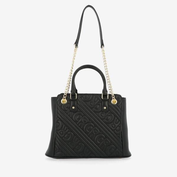 carlorino bag 0305135J 002 08 2 - Dangerously Black Top Handle