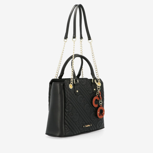 carlorino bag 0305135J 002 08 3 - Dangerously Black Top Handle