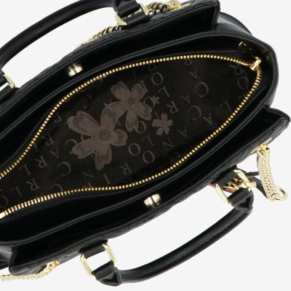 carlorino bag 0305135J 002 08 4 - Dangerously Black Top Handle