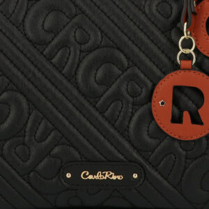 carlorino bag 0305135J 002 08 5 - Dangerously Black Top Handle