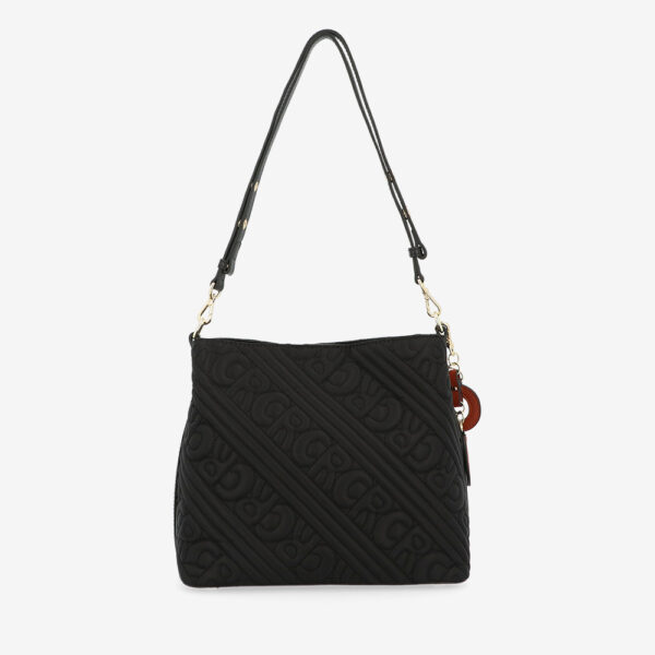 carlorino bag 0305135J 103 08 2 - Dangerously Black Shoulder Bag