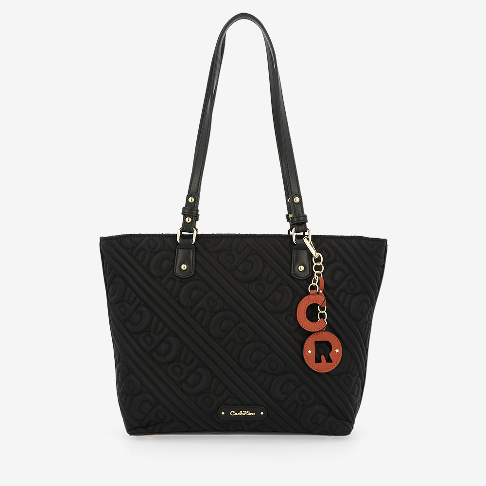 carlorino bag 0305135J 104 08 1 - Dangerously Black Tote