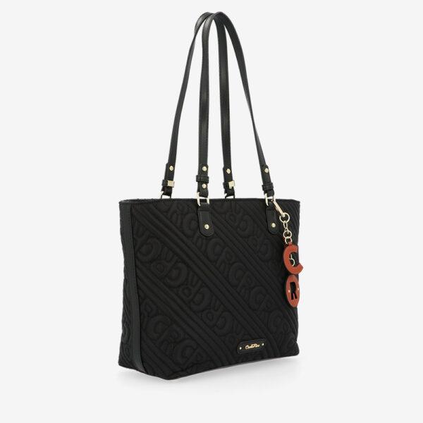 carlorino bag 0305135J 104 08 3 - Dangerously Black Tote