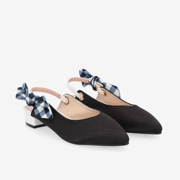 "carlorino shoe 33310 K007 08 8 - Whisper And Sway 1"" Slingback Heels"