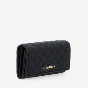 carlorino wallet 0304323A 501 08 3 - Black In Love with Quilt Chain Link 2-Fold wallet