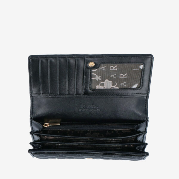 carlorino wallet 0304323A 501 08 4 - Black In Love with Quilt Chain Link 2-Fold wallet