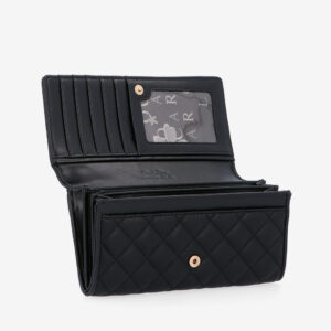 carlorino wallet 0304323A 501 08 6 - Black In Love with Quilt Chain Link 2-Fold wallet