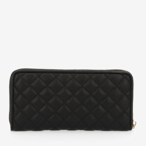 carlorino wallet 0304323A 502 08 2 - Black In Love with Quilt Chain Link Zip wallet
