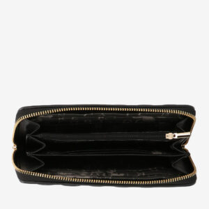 carlorino wallet 0304323A 502 08 4 - Black In Love with Quilt Chain Link Zip wallet