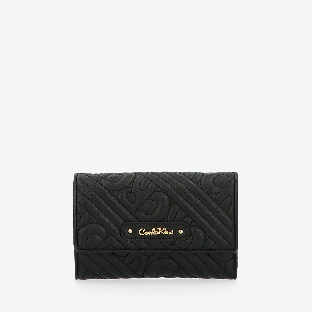 carlorino wallet 0305135J 501 08 1 - Dangerously Black Short Wallet