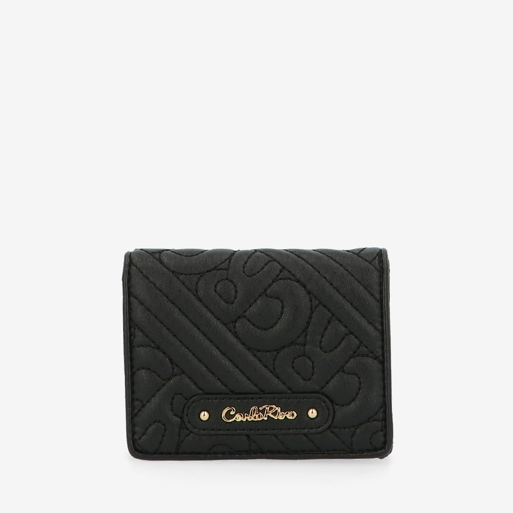 carlorino wallet 0305135J 701 08 1 - Dangerously Black Card Holder