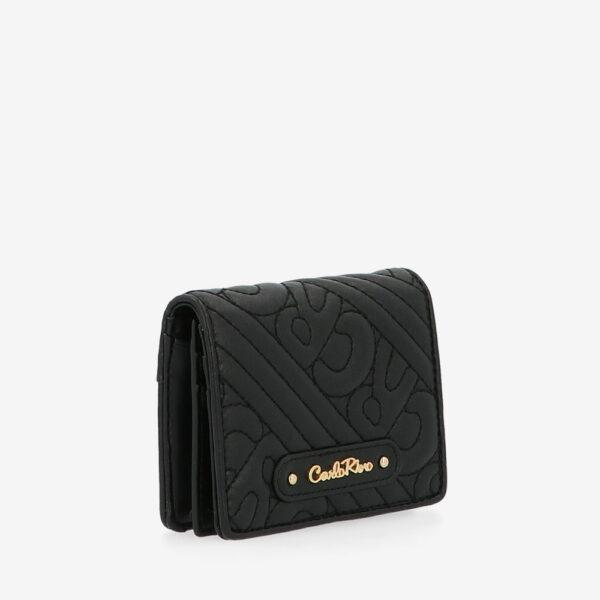 carlorino wallet 0305135J 701 08 3 - Dangerously Black Card Holder