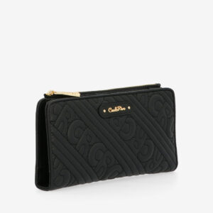 carlorino wallet 0305135J 703 08 3 - Dangerously Black Crossbody Wallet