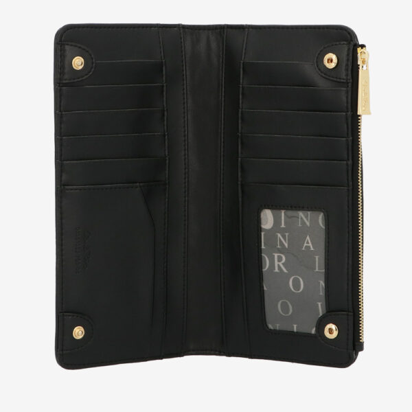 carlorino wallet 0305135J 703 08 4 - Dangerously Black Crossbody Wallet