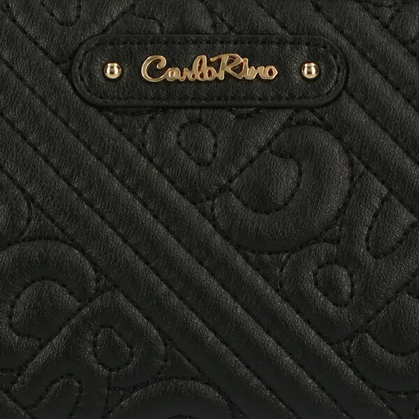 carlorino wallet 0305135J 703 08 5 - Dangerously Black Crossbody Wallet