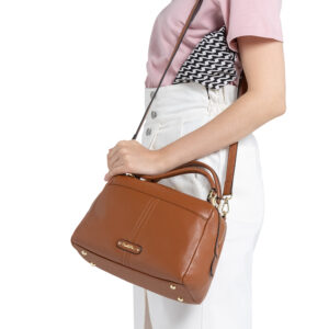 Leather Bash Oblong Top Handle