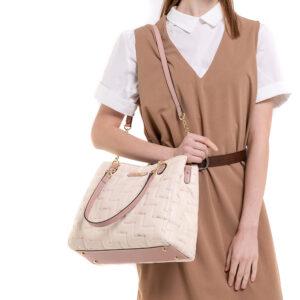 Tickled Pink Cushy Square Shoulder Bag
