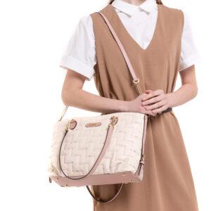 Tickled Pink Cushy Rectangular Shoulder Bag