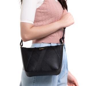 Black Beauty Crossbody Bucket Bag
