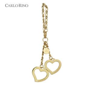 Gold Heart Shape Keychain