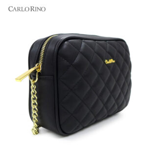 In Love with Quilt Cubic Chain Link Shoulder Purse