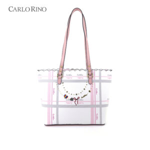 Embroidered Charmed Series Shoulder Tote