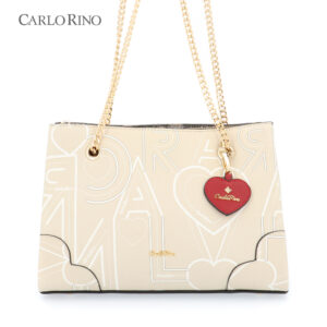 Love is in the Air Chain Link Shoulder Tote